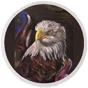 American Pride Round Beach Towel by Peter Suhocke