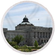 Library Of Congress  Round Beach Towel by Christiane Schulze Art And Photography