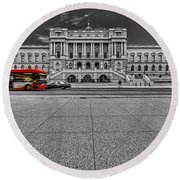Round Beach Towel featuring the photograph Library Of Congress by Peter Lakomy