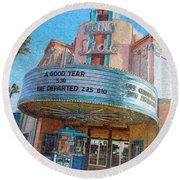 Lido Theater Round Beach Towel