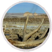 Life Above The Buttes Round Beach Towel