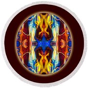 Life Begins Today Abstract Living Art By Omaste Witkowski Round Beach Towel