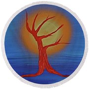 Round Beach Towel featuring the painting Life Blood By Jrr by First Star Art