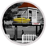Life Guard Station Round Beach Towel