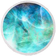 Life Is A Gift - Abstract Art Round Beach Towel