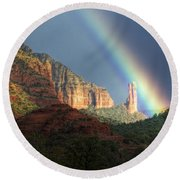 Life Is Beautiful  Round Beach Towel by Saija  Lehtonen