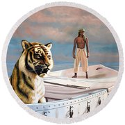 Life Of Pi Round Beach Towel