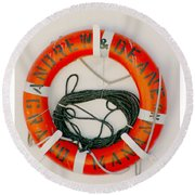 Life Ring Round Beach Towel