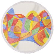 Round Beach Towel featuring the painting Graffiti Life  by Stormm Bradshaw