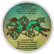 Life The Hound Round Beach Towel