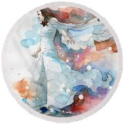 Life The Universe And Everything Round Beach Towel