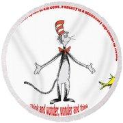 Life Words - Dr Seuss Round Beach Towel