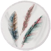Light As A Feather Round Beach Towel