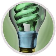 Light Bulb Round Beach Towel by Bob Orsillo