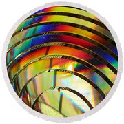 Light Color 2 Prism Rainbow Glass Abstract By Jan Marvin Studios Round Beach Towel