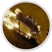 Light  Fenway Park Round Beach Towel by Iconic Images Art Gallery David Pucciarelli