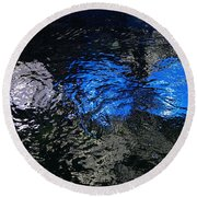 Light From Below Round Beach Towel
