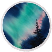 Light In The Dark Of Night Round Beach Towel