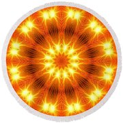 Round Beach Towel featuring the photograph Light Meditation by Joseph J Stevens
