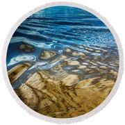 Light Meets Water Round Beach Towel