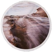 Light Of The Pacific  Round Beach Towel