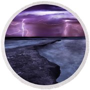 Light Symphony Round Beach Towel