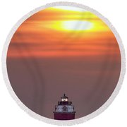 Light The Way Round Beach Towel