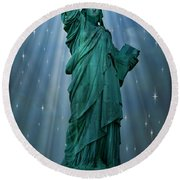 Light To The Nations Round Beach Towel