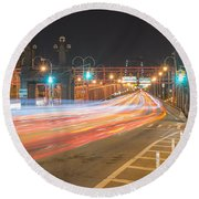 Light Traffic Round Beach Towel