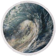 Light Wave  Round Beach Towel