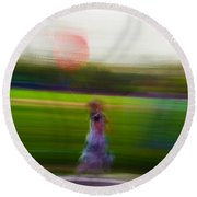 Round Beach Towel featuring the photograph Lighter Than Air by Alex Lapidus