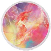 Lighthearted - Abstract Art Round Beach Towel