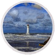 Lighthouse Round Beach Towel by Spikey Mouse Photography