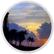 Lighthouse Point Sunrise 2 Round Beach Towel