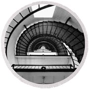 Lighthouse Spiral Round Beach Towel