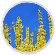 Lighting The Spring Sky Round Beach Towel by Felicia Tica
