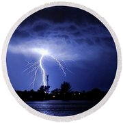 Power From Above Round Beach Towel