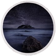 Lights Of The Past Round Beach Towel