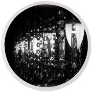 Round Beach Towel featuring the photograph Lightwork by Clare Bevan
