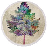 Like A Tree Round Beach Towel by Klara Acel