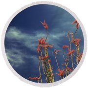 Like Flying Amongst The Clouds Round Beach Towel by Laurie Search