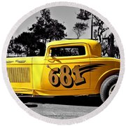 Lil' Deuce Coupe Round Beach Towel