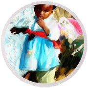 Lil Girl  Round Beach Towel