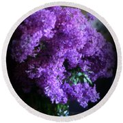 Lilac Bouquet Round Beach Towel