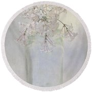 Lilac Flower Round Beach Towel