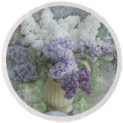 Lilac Round Beach Towel by Jeff Burgess