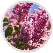 Lilacs Round Beach Towel