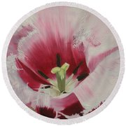 Lilicaea Tulipa Round Beach Towel by Claudia Goodell