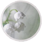 Lilies Of The Valley Round Beach Towel