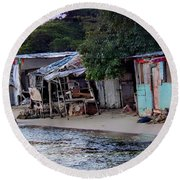 Liliput Craft Village And Bar Round Beach Towel by Lilliana Mendez